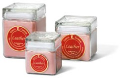 Circle E Candle Leather Scented - $15