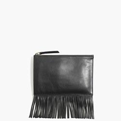 Madewell Leather Fringe Clutch- $60
