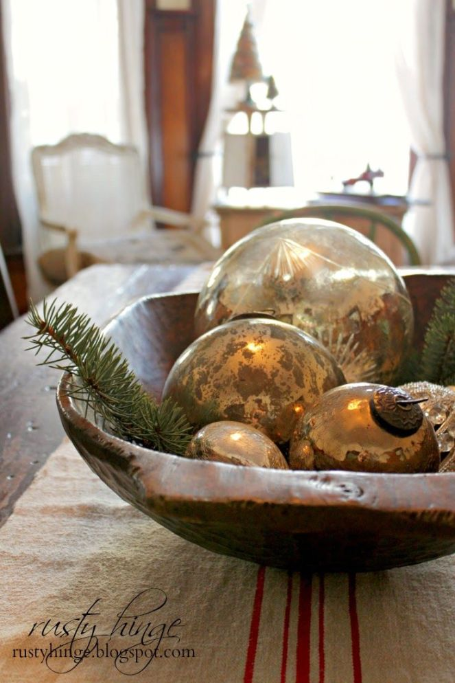 christmas ornament bowl